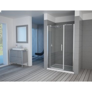 NOVOUS - Two Fixed Panel  Pivot Door (Frameless)