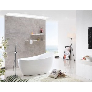 BRUNA - Acrylic Oval Freestanding Bathtub