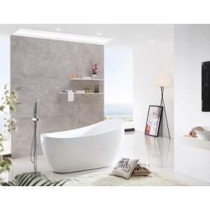 BRUNA - Acrylic Oval Freestanding Bathtub